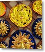 Sun Faces On The Island Of Capri Italy Metal Print