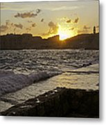 Sun Going Down Over Dubrovnik Metal Print
