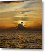 Sun Hides Behind Clouds Metal Print