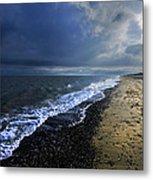 Sun Light On Dunwich Beach Metal Print
