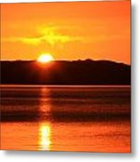 Sun Over Rotortua Nz Metal Print
