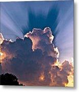 Sun Rays And Clouds Metal Print