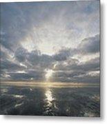 Sun Reflection Over Water, Wattenmeer Metal Print