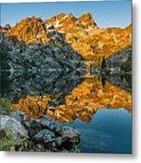 Sun Rises On Upper Sardine Lake Metal Print