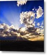 Sun Set By Aqua Metal Print