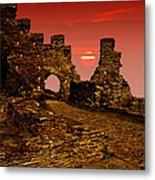 Sun Set Castle Metal Print
