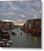 Sun Sets Over Venice Metal Print