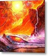 Sun Setting Hawaii Metal Print