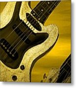 Sun Stained Yellow Electric Guitar Metal Print