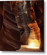 Sunbeam In Antelope Canyon Metal Print