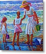 Sunday Afternoon Shore Study Metal Print by Joseph   Ruff