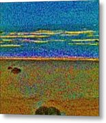 Sunday At The Shore With George Metal Print