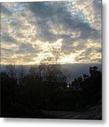 Sunday Autumn Sunset One Metal Print