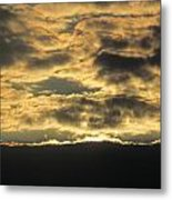 Sunday Autumn Sunset Three Metal Print