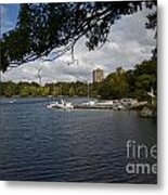 Jamaica Pond Sailing Metal Print