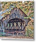 Sunday River Covered Bridge Metal Print