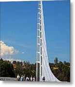 Sundial Bridge - This Bridge Is A Glass-and-steel Sculpture Metal Print by Christine Till