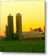 Sundown At The Ranch Metal Print