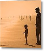 Sundown By The Bay Of Bengal Metal Print