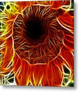 Sunflower Fractal Metal Print