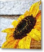 Sunflower Paint Metal Print