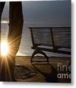 Sunlight And Bench Metal Print