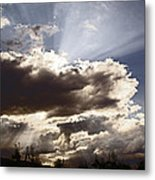 Sunlight And Stormy Skies Metal Print