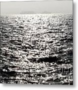 Sunlight On A Lake With Islands Metal Print