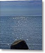 Sunlight Sparkling On The Water At Sturgeon Point Metal Print