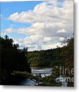 Sunny Around The Bend Metal Print