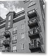 Sunny Black And White Day Metal Print