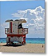 Sunny Day Miami Beach Metal Print