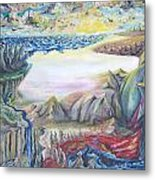 Sunny Side Up Down The River Metal Print