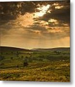Sunrays Through Clouds, North Metal Print