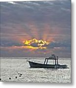Sunrise - Puerto Morelos Metal Print
