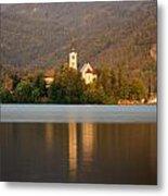 Sunrise Across Lake Bled Metal Print