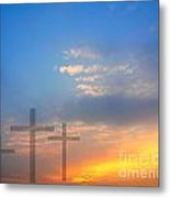 Sunrise And Easter Theme Metal Print
