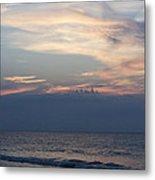 Sunrise And Surf Metal Print