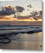 Sunrise At Bamburgh Beach Metal Print