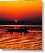 Sunrise At Indian Sea  Metal Print
