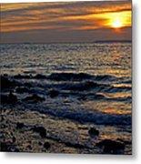 Sunrise At Mt Loretto Beach Metal Print