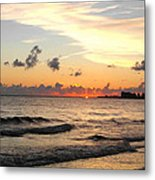 Sunrise At Sea 4 Metal Print
