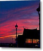 Sunrise At Sisowath Quay. Metal Print