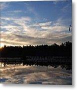 Sunrise At The Pond Metal Print