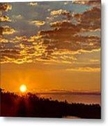 Sunrise Bayou Metal Print
