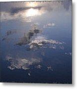 Sunrise Cloud Reflections Metal Print