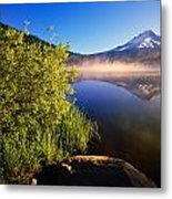 Sunrise Fog On Trillium Lake Metal Print