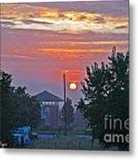 Sunrise From Backyard Metal Print