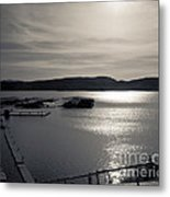 Sunrise Lake Pleasant Metal Print by Arne Hansen