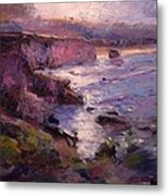 Sunrise On Pismo Beach Ca Metal Print